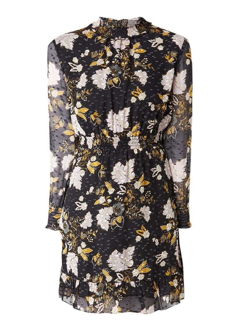 Whistles Belize A-lijn jurk met bloemenprint zwart