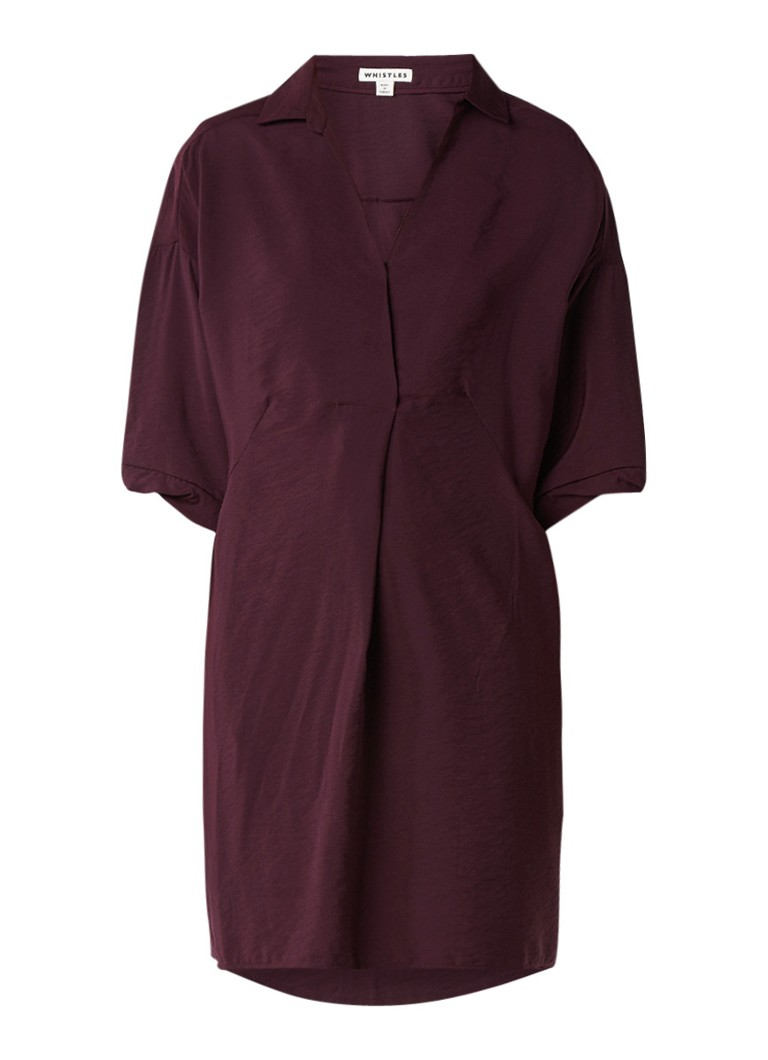 Whistles Lola loose fit tuniekjurk aubergine