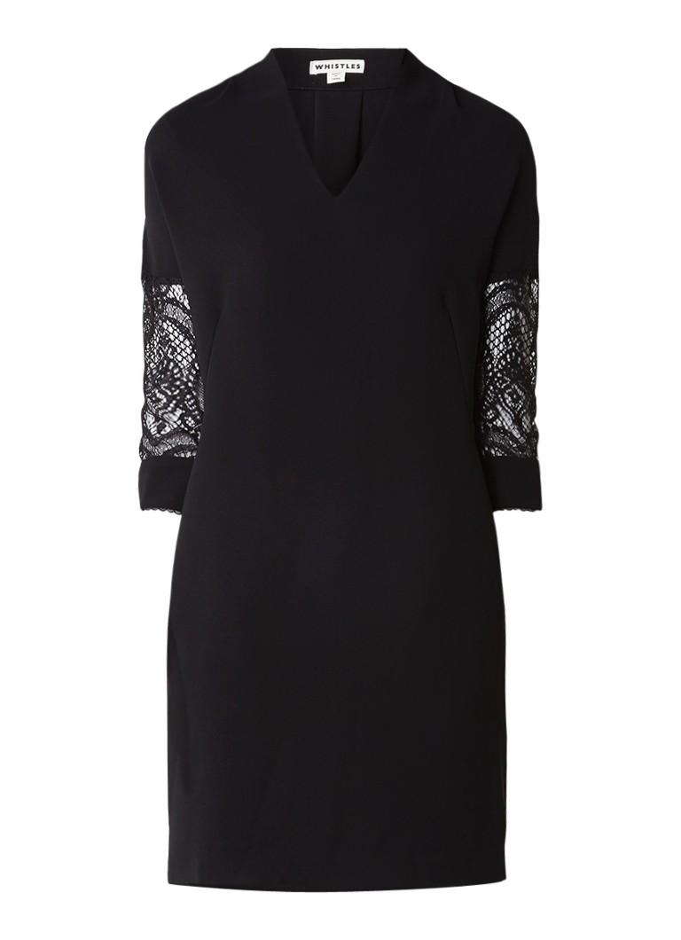 Whistles Paige mini-jurk met mouwen van kant zwart