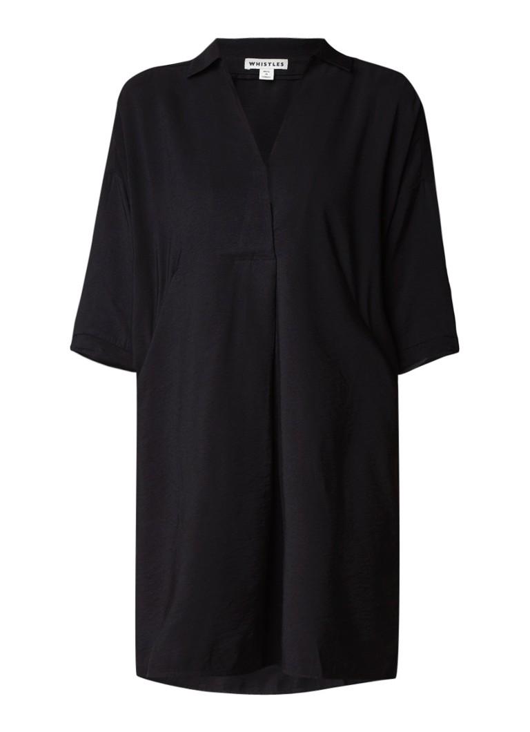 Whistles Lola oversized jurk met zakken zwart