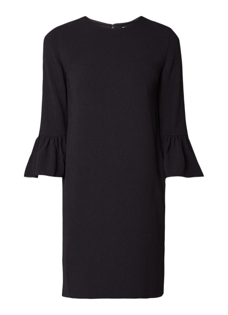 Whistles Raven midi-jurk met volantmouw zwart