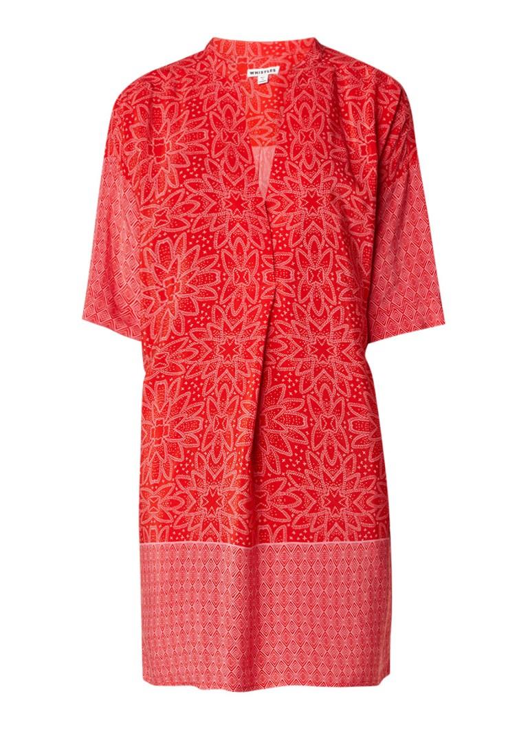 Whistles Riya tuniekjurk met grafisch dessin rood