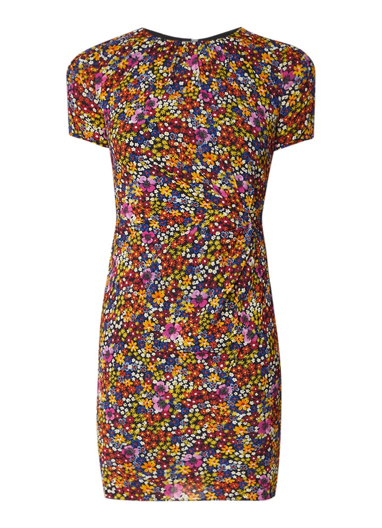 Whistles Dora bodycon jurk in zijdeblend met plooidetail geel