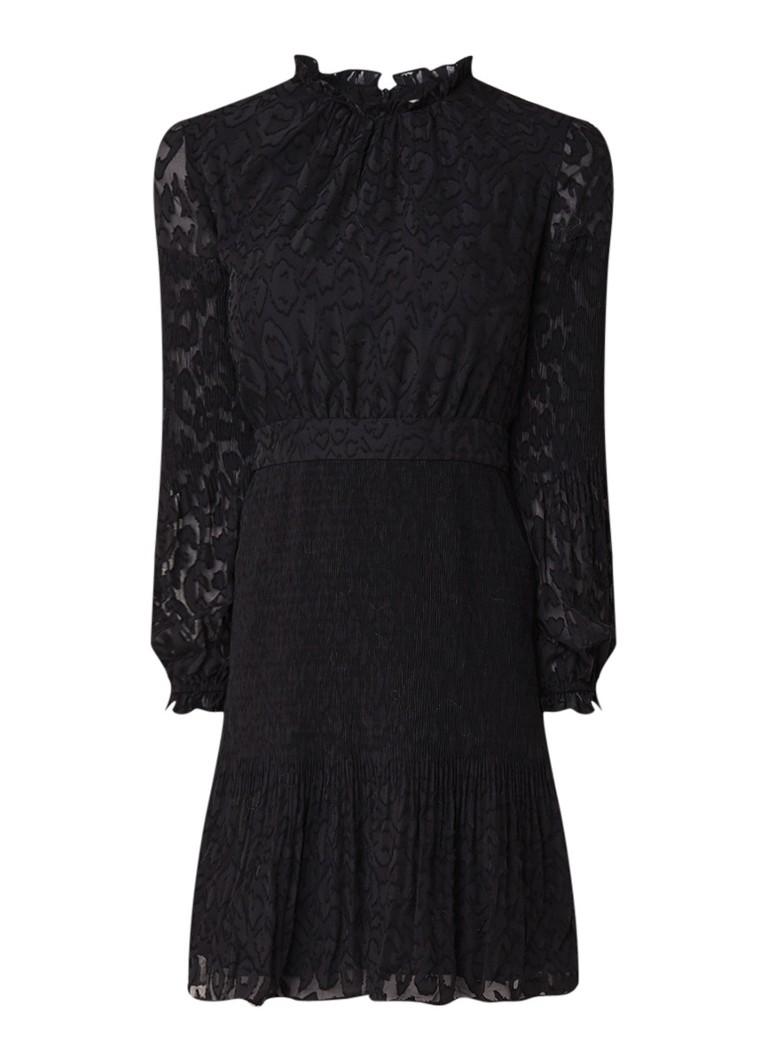 Whistles Devora A-lijn jurk met dessin zwart