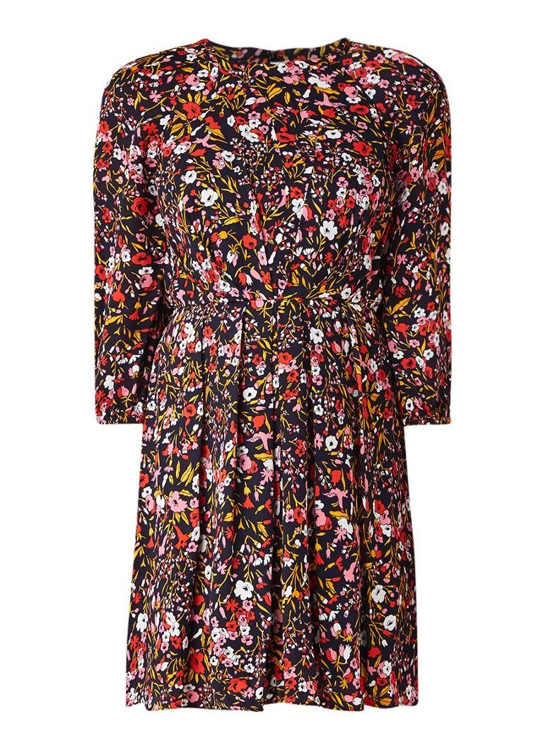 Whistles Meadow A-lijn jurk met bloemendessin zwart