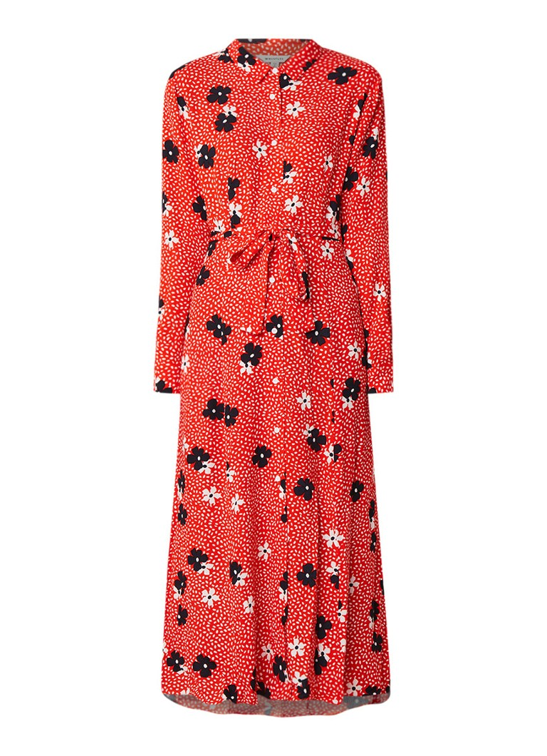 Whistles Confetti Floral maxi-jurk met bloemendessin rood