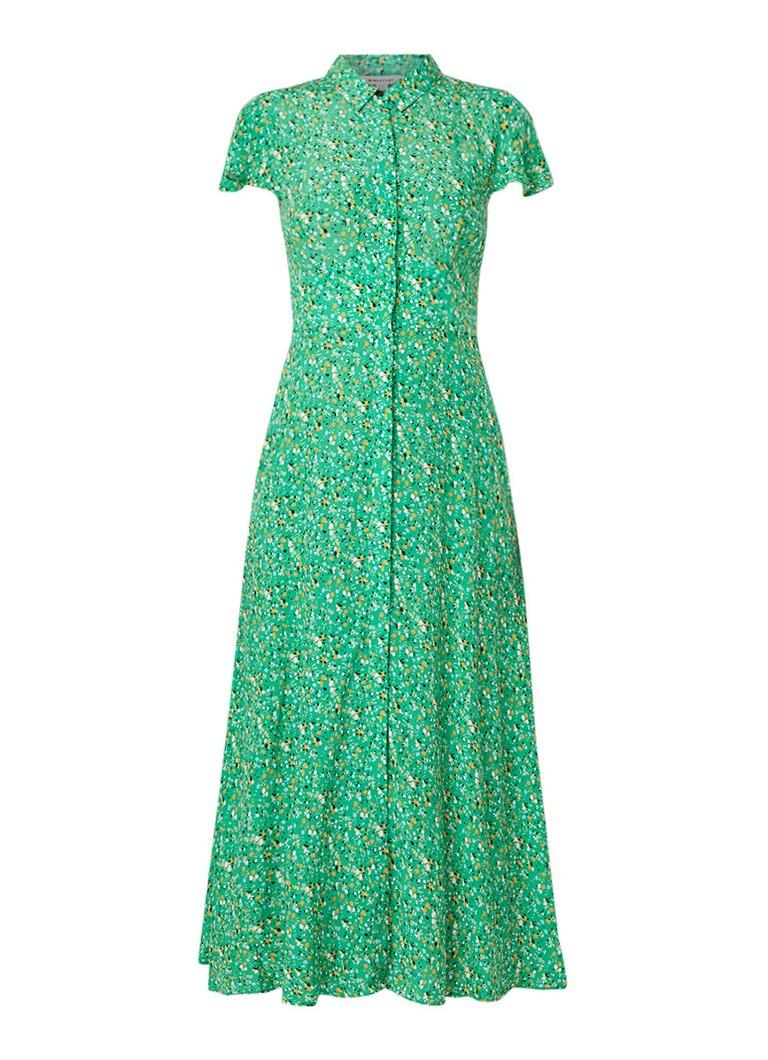 Whistles Maxi-jurk met bloemenprint en knoopsluiting groen