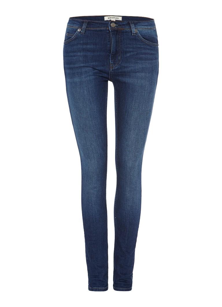 Whistles High rise skinny jeans met donkerblauwe wassing