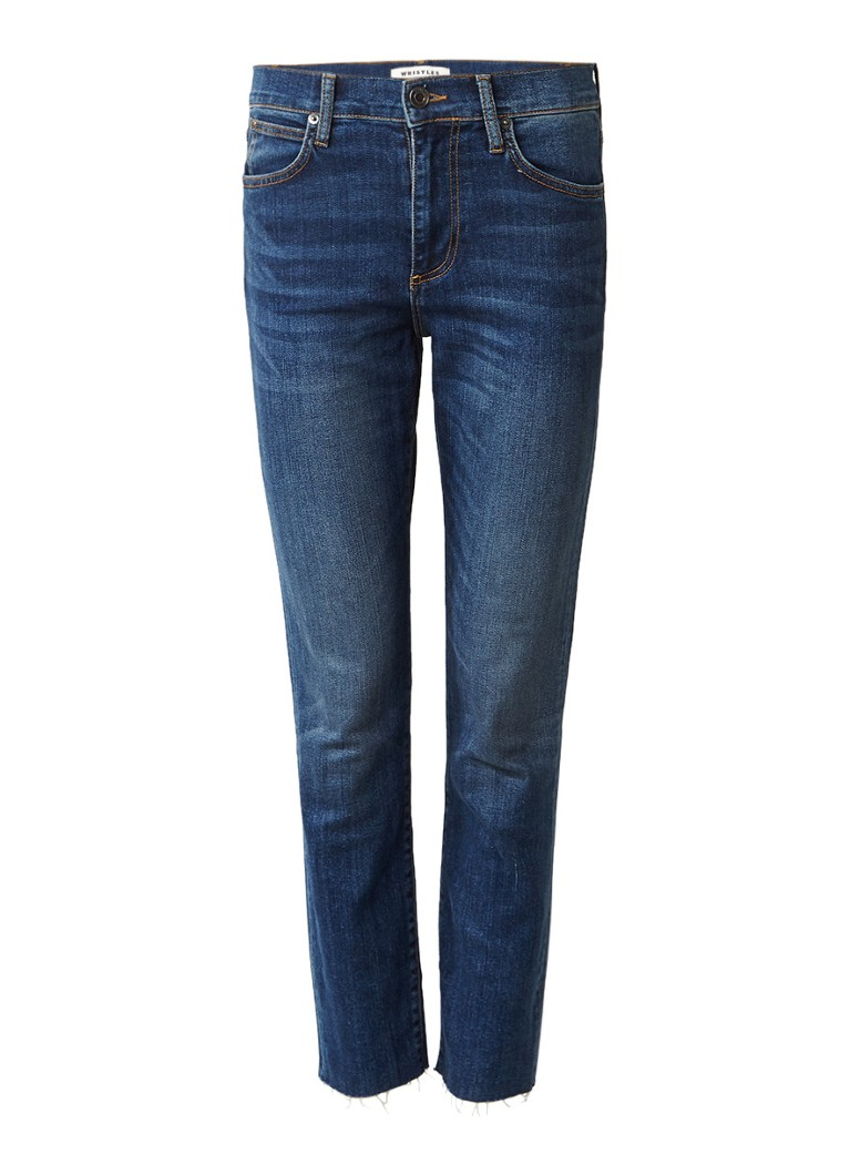 Whistles Perfect Slim Fit high rise jeans met afgeknipte pijp