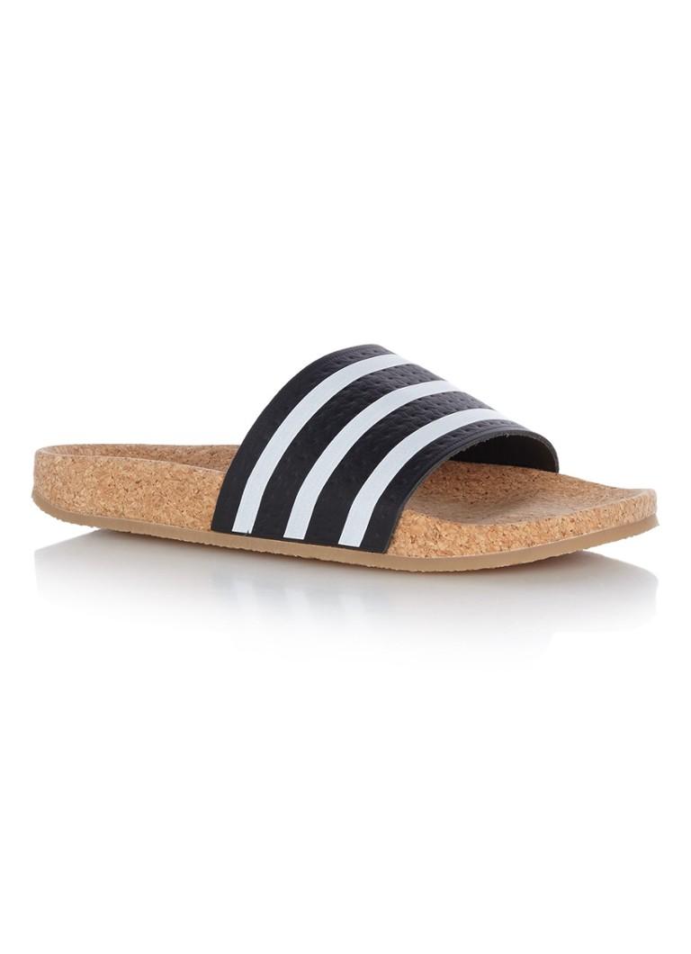 adidas Adilette Cork sandaal van leer
