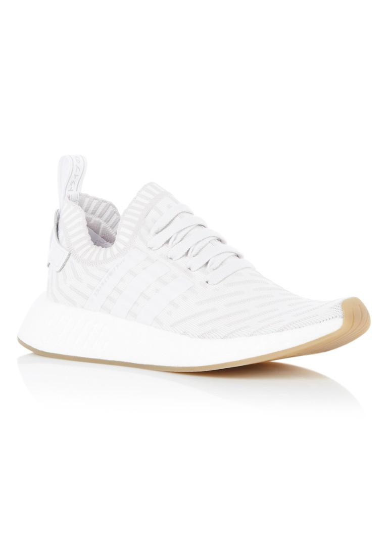 adidas NMD R2 Primeknit W sneaker met leren detail