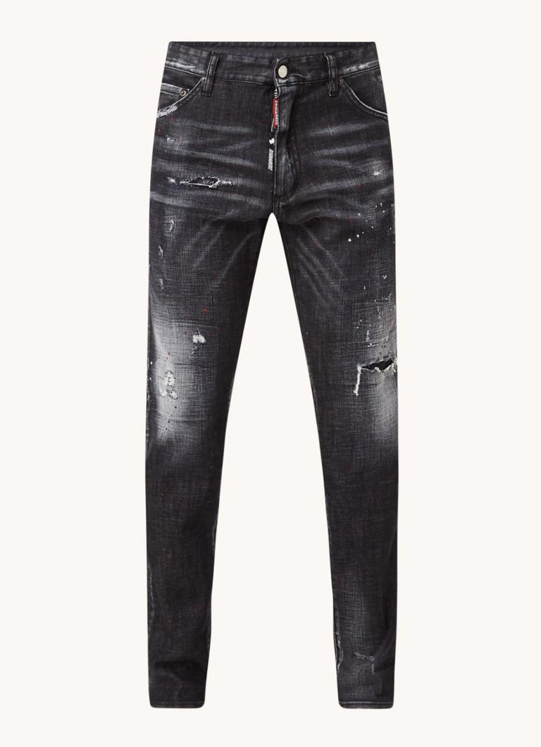 Dsquared Cool Guy slim fit jeans met ripped details en verfspetters