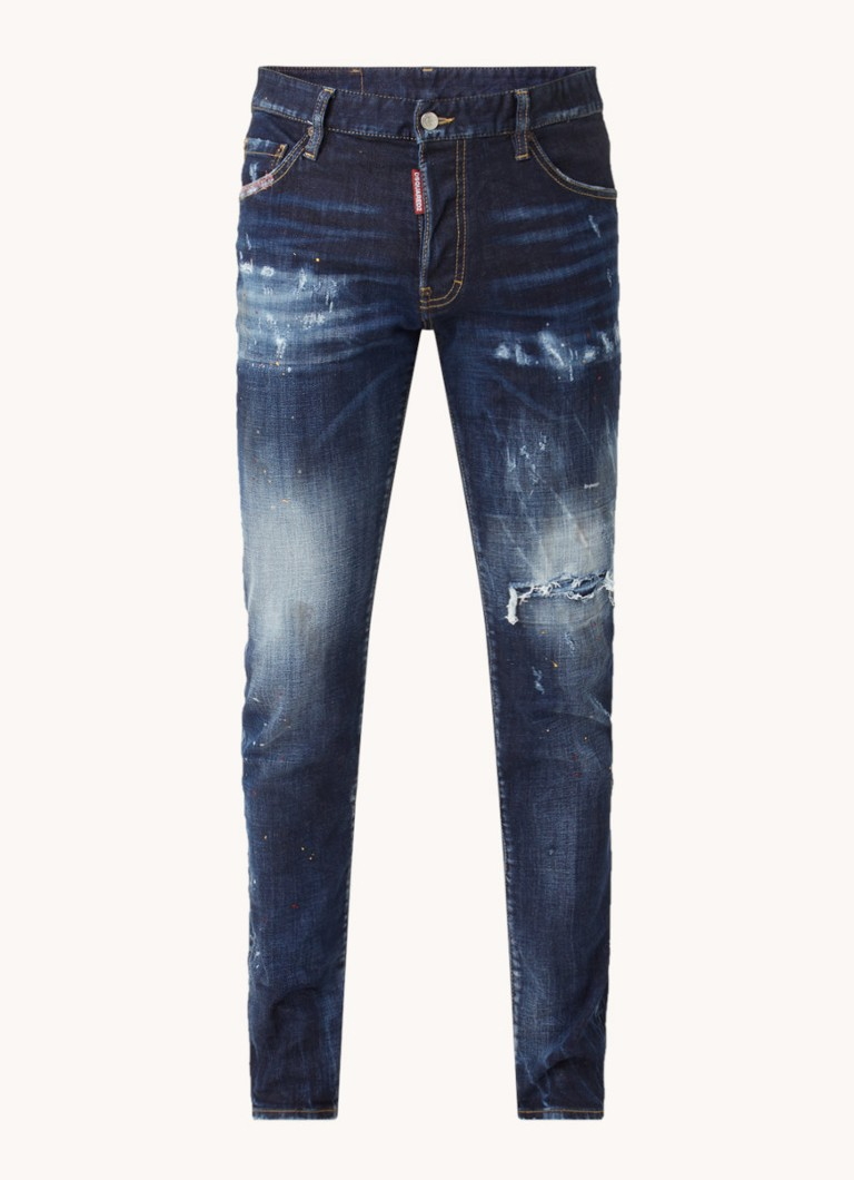 Dsquared Cool Guy slim fit jeans met ripped details