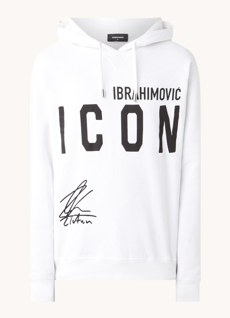 Dsquared Ibrahimovic Icon hoodie met front- en backprint