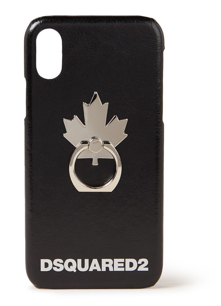 Image of Dsquared2 Maple Leaf telefoonhoesje voor iPhone X met selfie ring