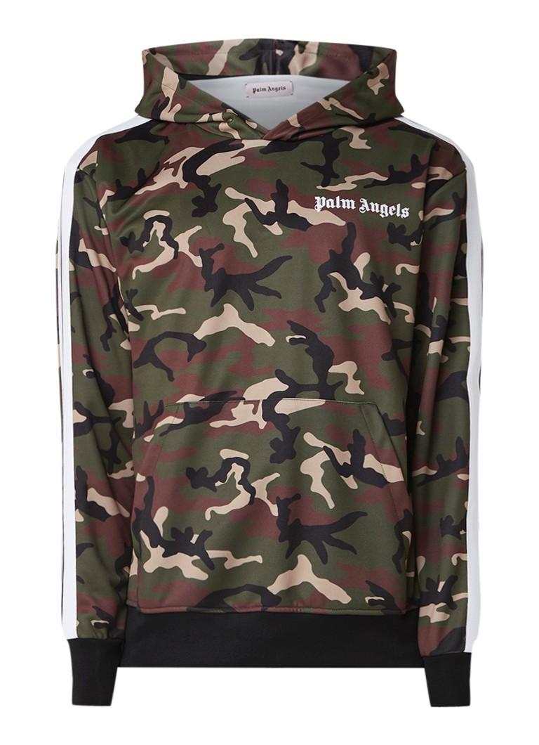 Palm Angels Camo hoodie met camouflage dessin en flockprint