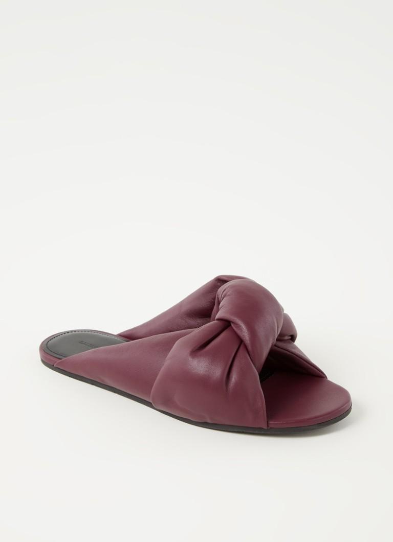 Drapy slipper van lamsleer