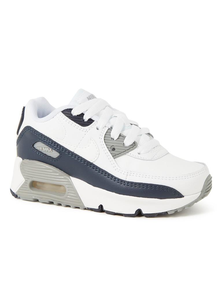 Nike Air Max 90 Leather Sneakers Kinderen White/Grey/Black Kind online kopen