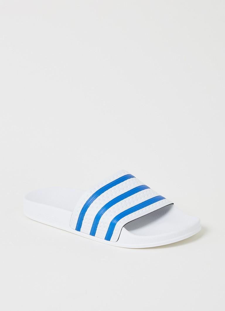 Adilette slipper met streepprint