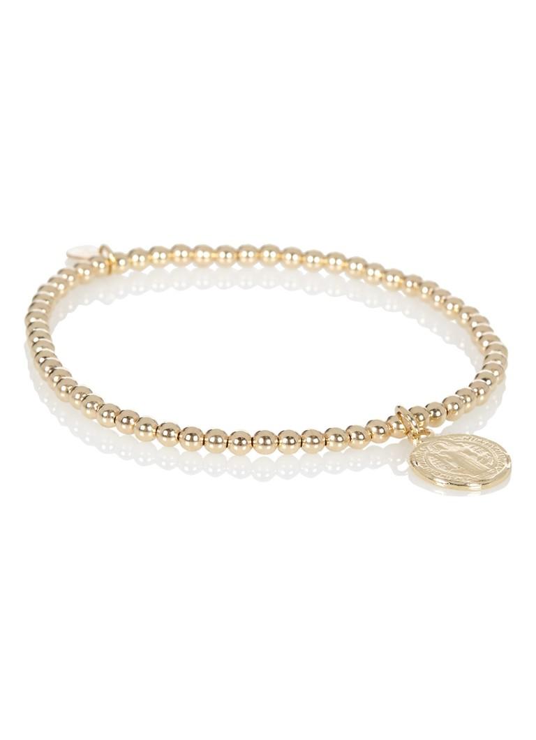 Pscallme - SAN BENITO 1 COIN Goudkleurig - Armband - Goudkleurig