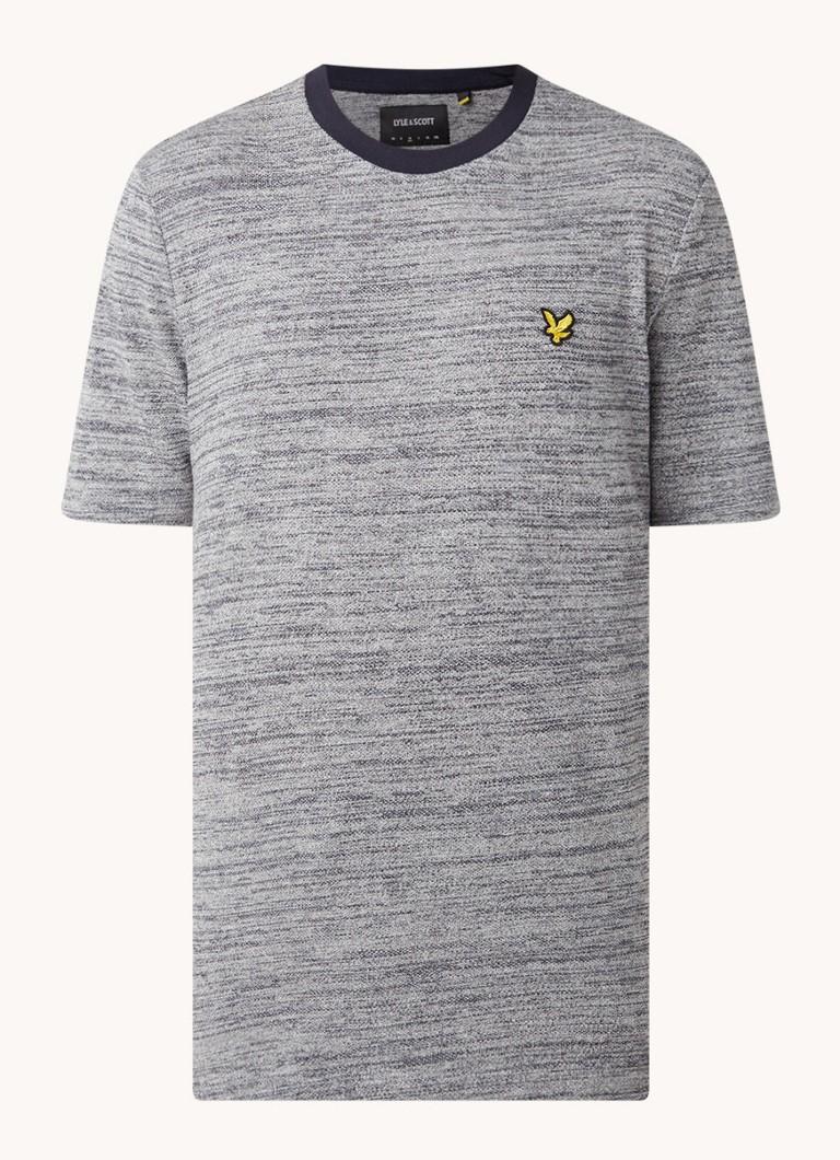 Gemêleerd T shirt met logo