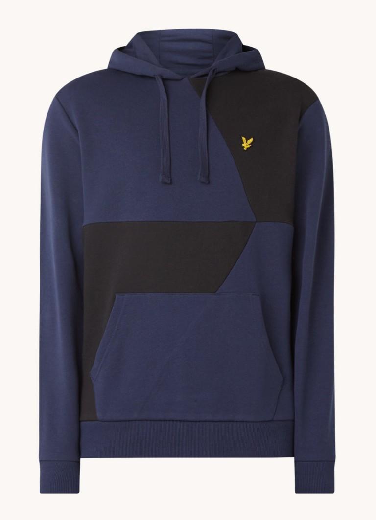 Cut and Sew hoodie met logo
