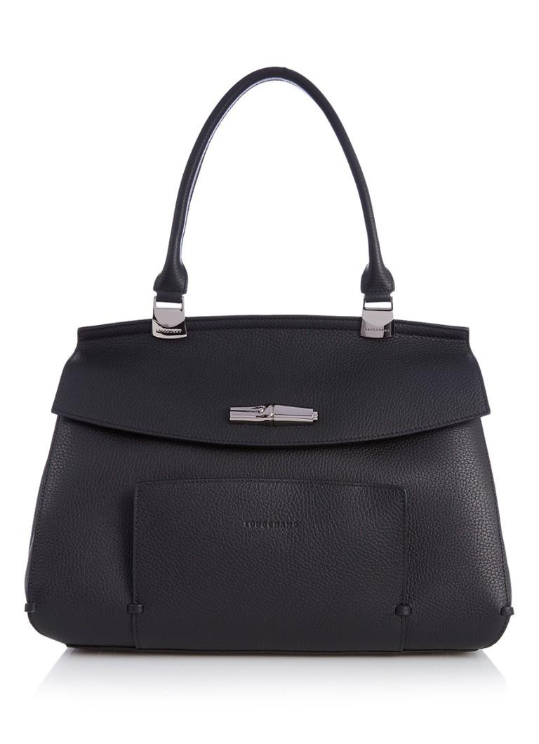 Longchamp Longchamp Madeleine handtas van leer