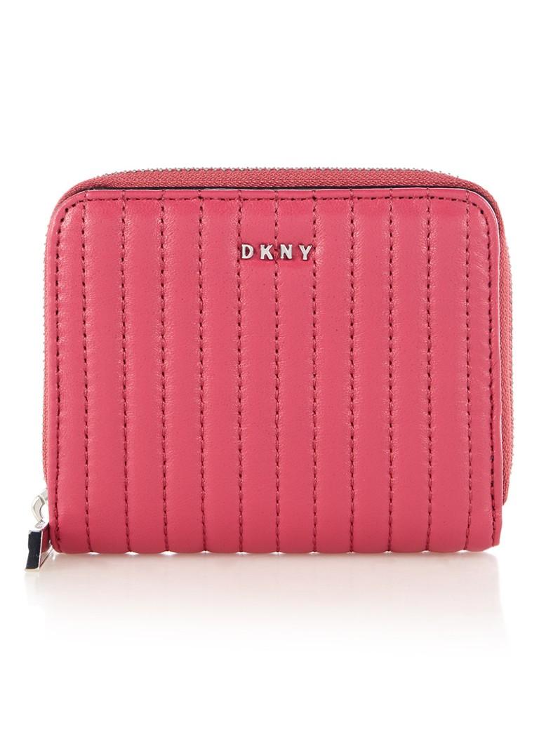 Portemonnees DKNY Gansevoort portemonnee van lamsleer Donkerroze