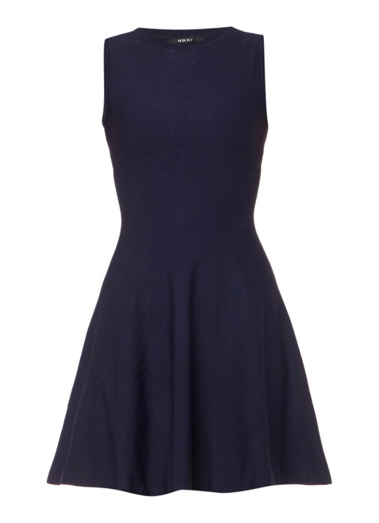 Nikkie Ventura mouwloze A-lijn jurk donkerblauw