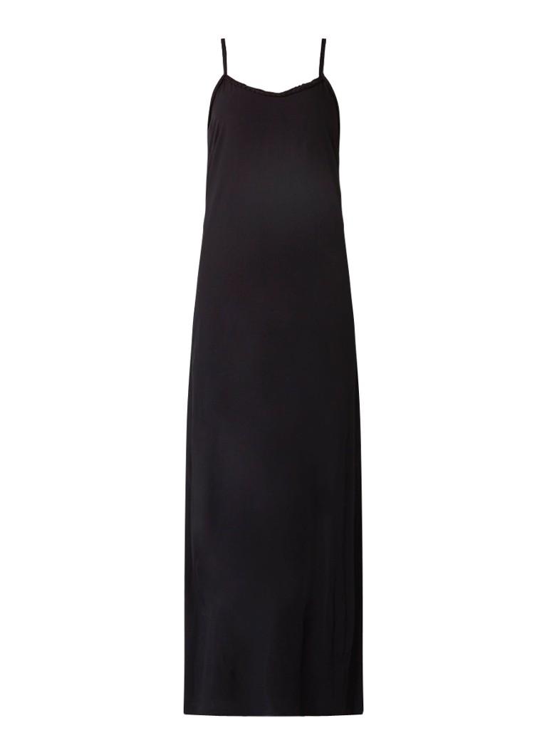 Nikkie Rida maxi-jurk met split en gevlochten boord zwart