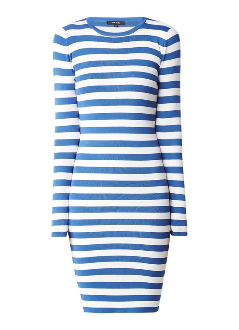 Nikkie Jolie fijngebreide jurk met lange mouw