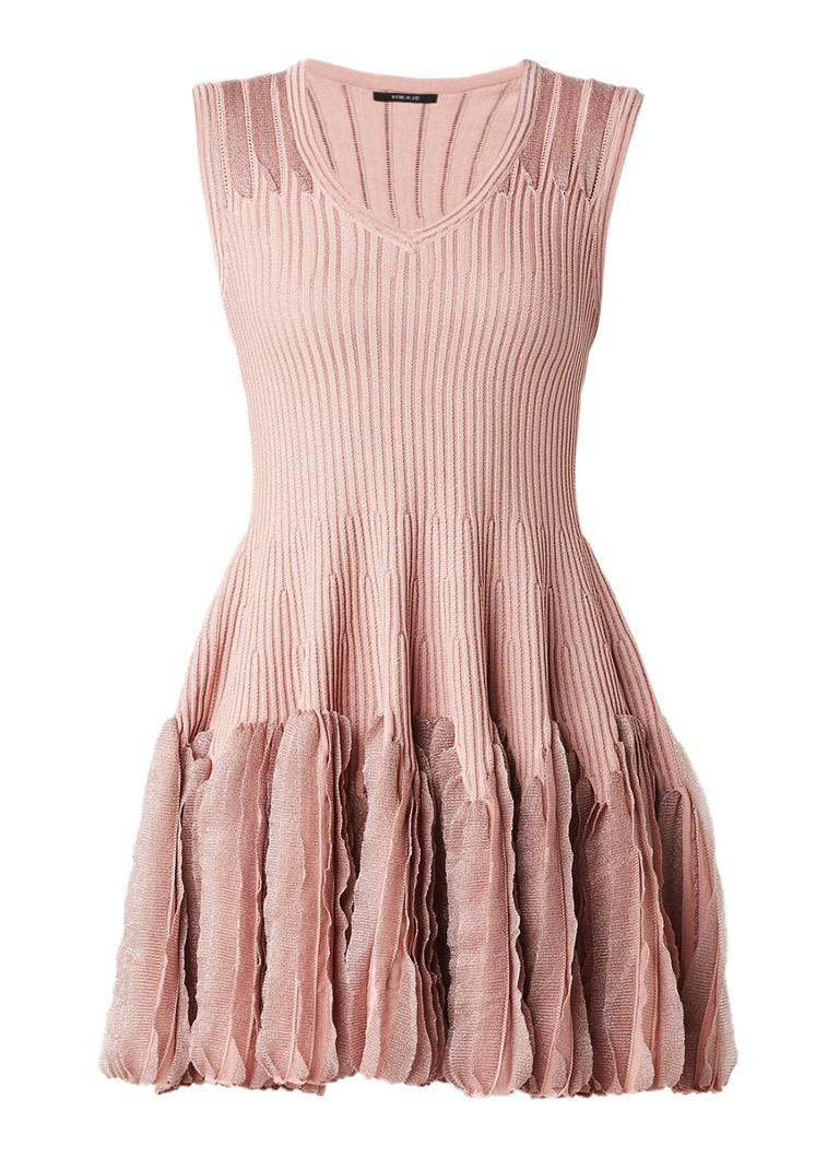 Nikkie Jiska ribgebreide A-lijn jurk met lurex