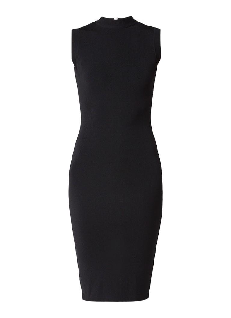 Jurken Nikkie Jina mouwloze fijngebreide jurk Zwart