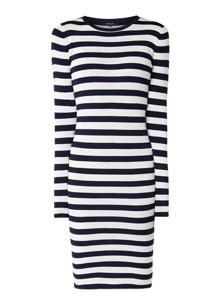 NIKKIE Jolie aansluitende jurk met stretch donkerblauw