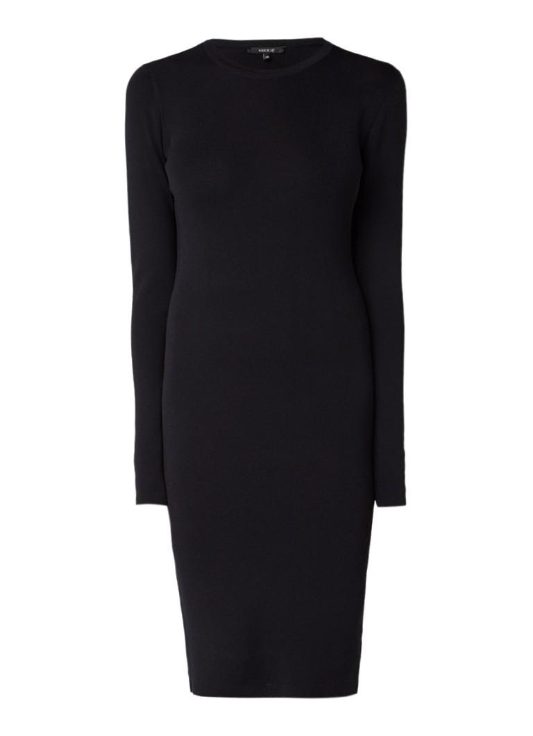 NIKKIE Jolie aansluitende jurk met stretch zwart