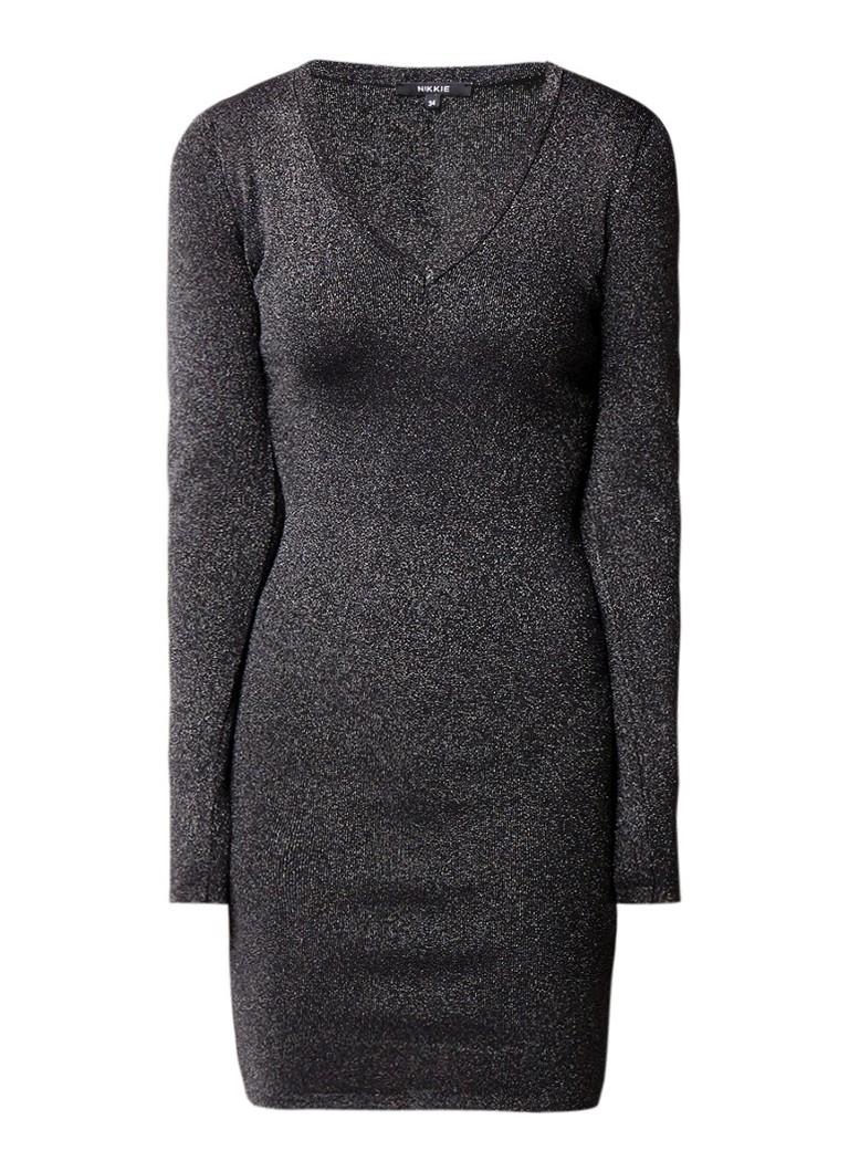 NIKKIE Jolisa bodycon jurk met lurex zwart