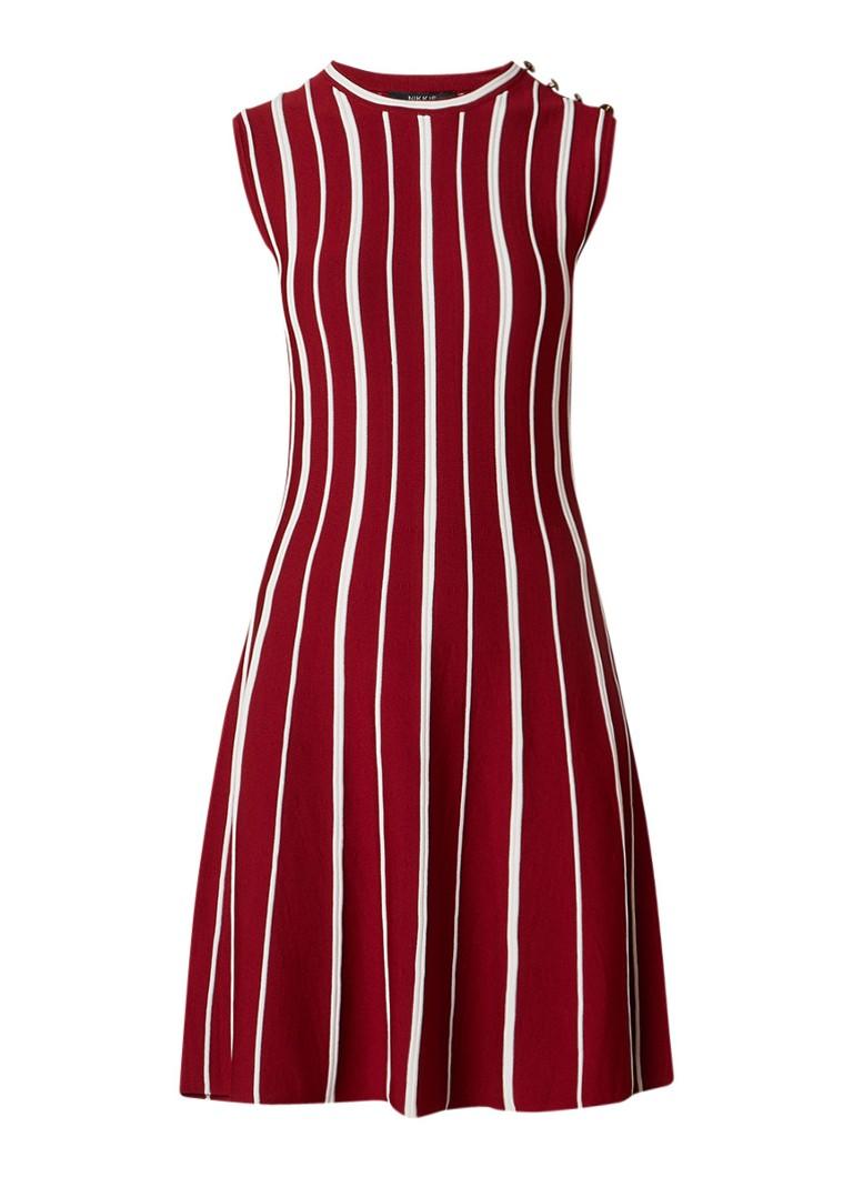NIKKIE Jaja Ventura A-lijn jurk van jersey met streepdessin rood