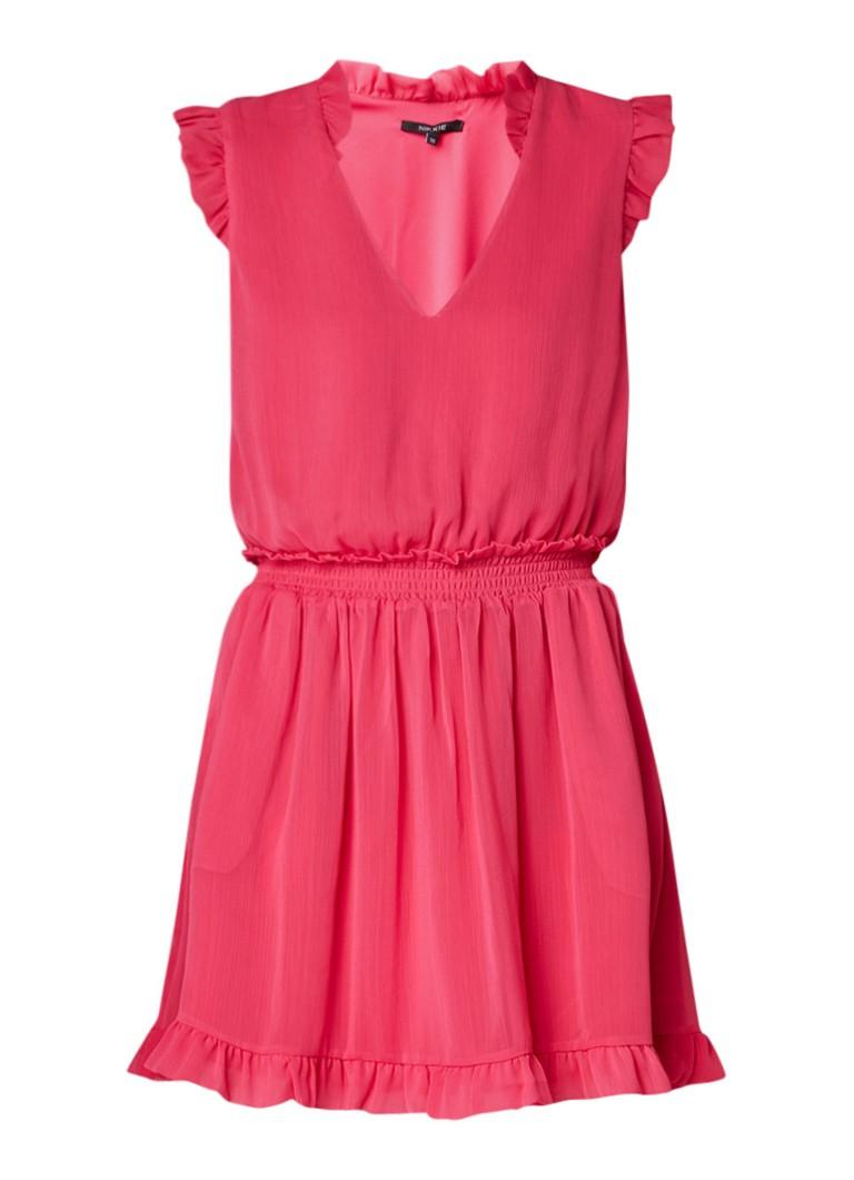 NIKKIE Riva A-lijn jurk met ruches roze
