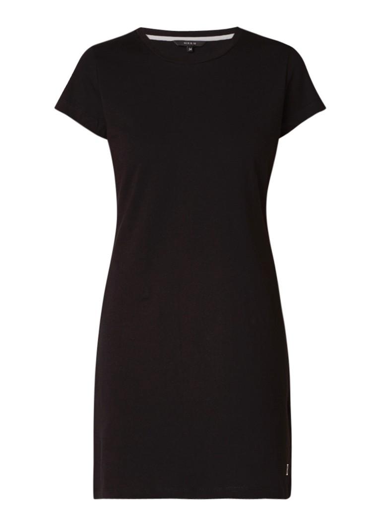NIKKIE Summer Night T-shirt-jurk met opdruk zwart