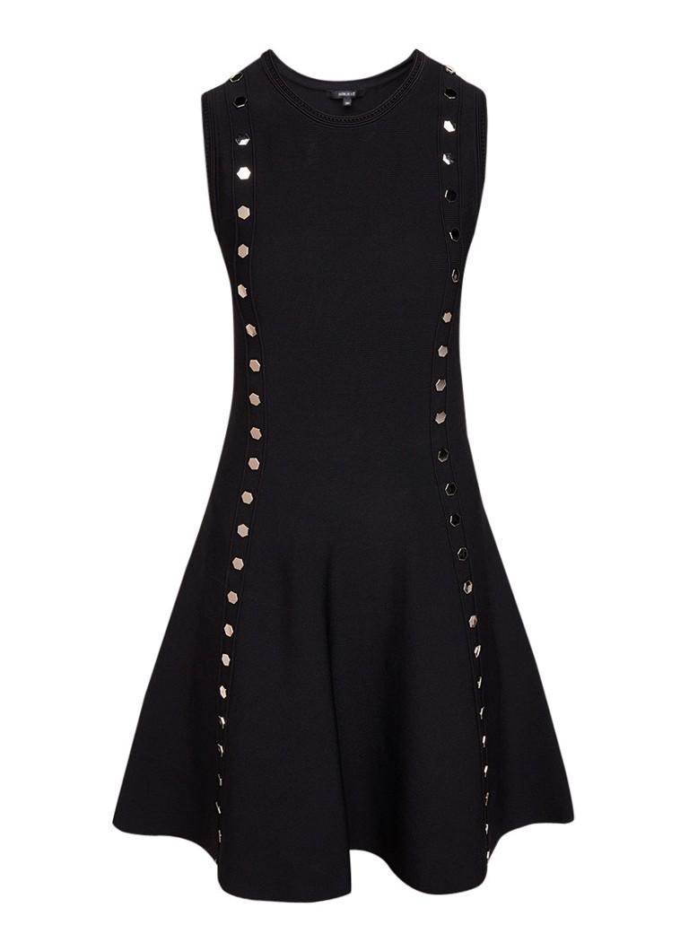 NIKKIE Jessi Ventura A-lijn jurk met studs zwart