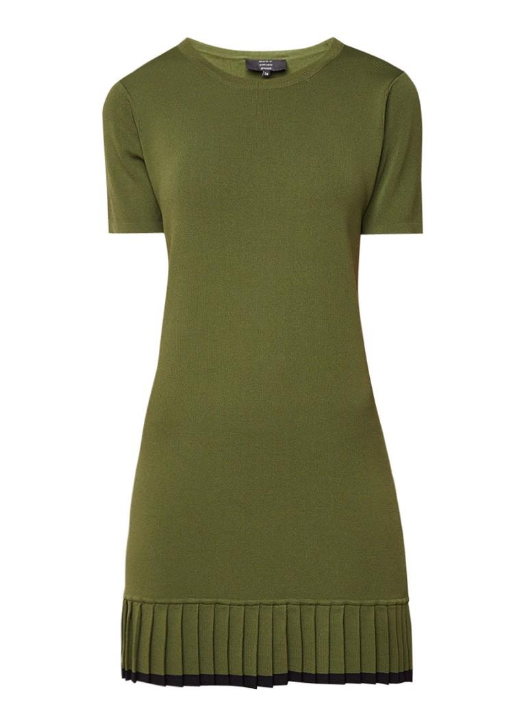 NIKKIE Jara mini-jurk met plooidetail legergroen