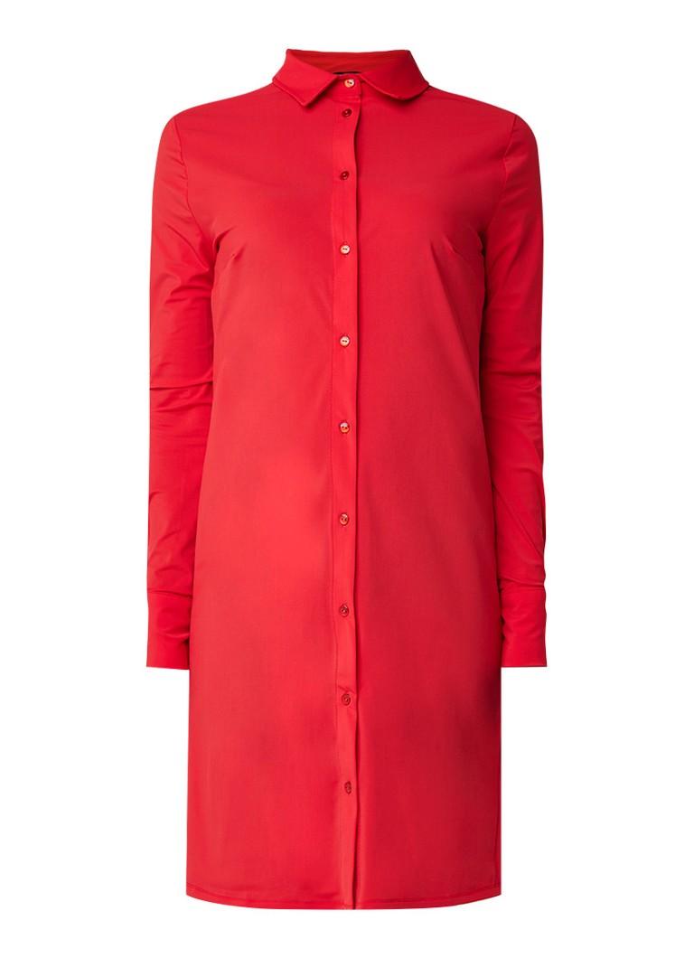 NIKKIE Suzy blousejurk met stretch rood