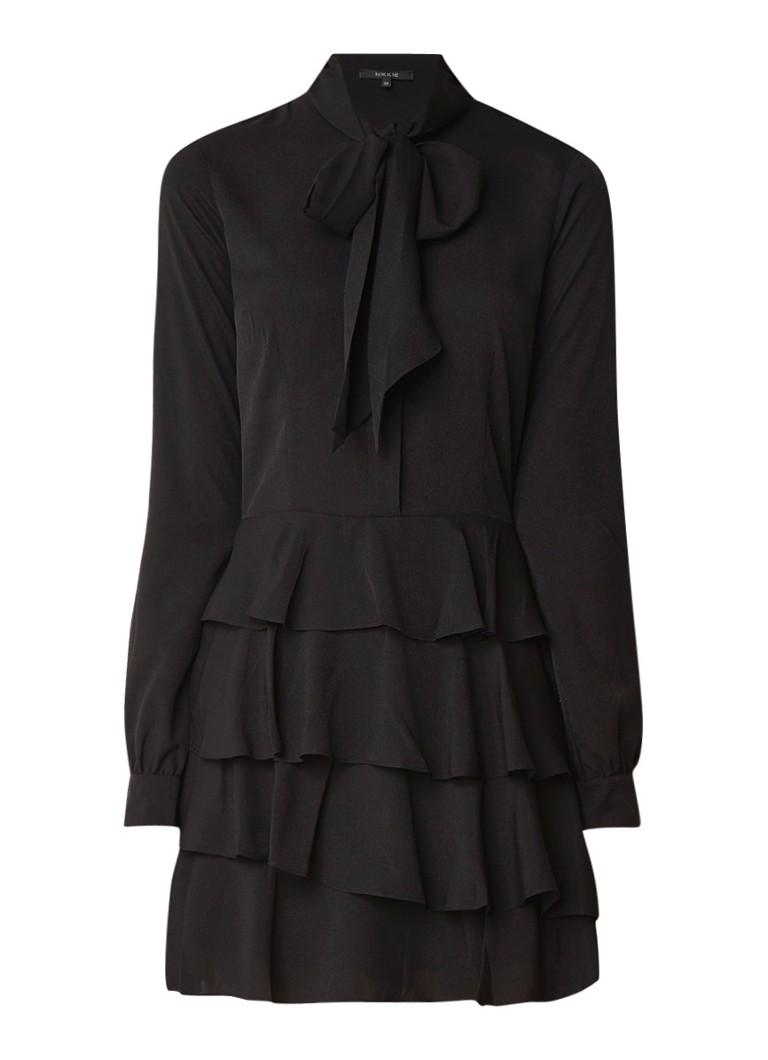 NIKKIE Rena blousejurk met strokenrok zwart