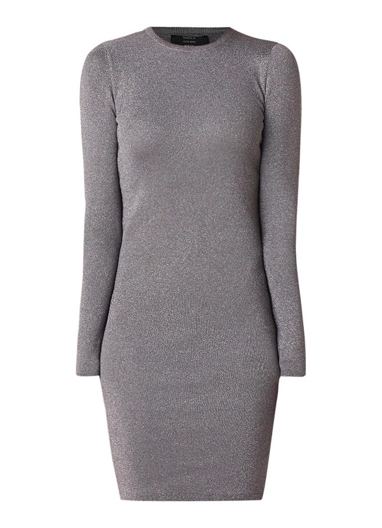 NIKKIE Jolie bodycon midi-jurk met lurex zilver