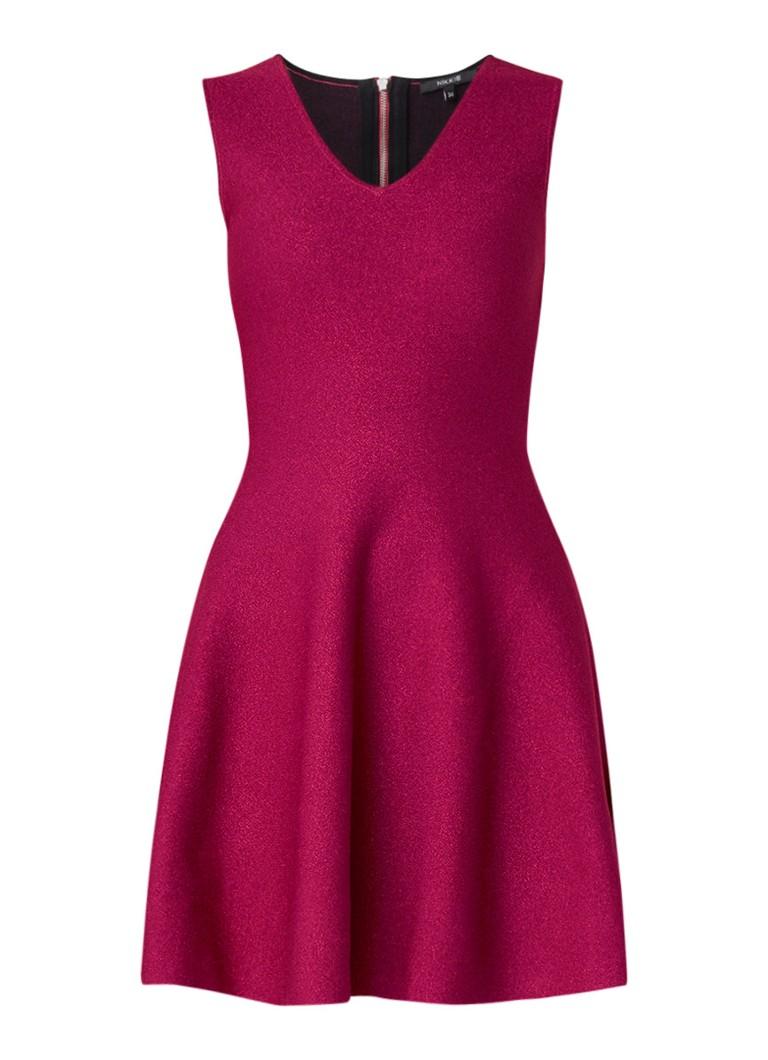 NIKKIE Kylie A-lijn jurk met lurex fuchsia