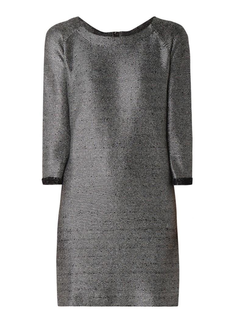NIKKIE Fay gebreide jurk met lurex zilver