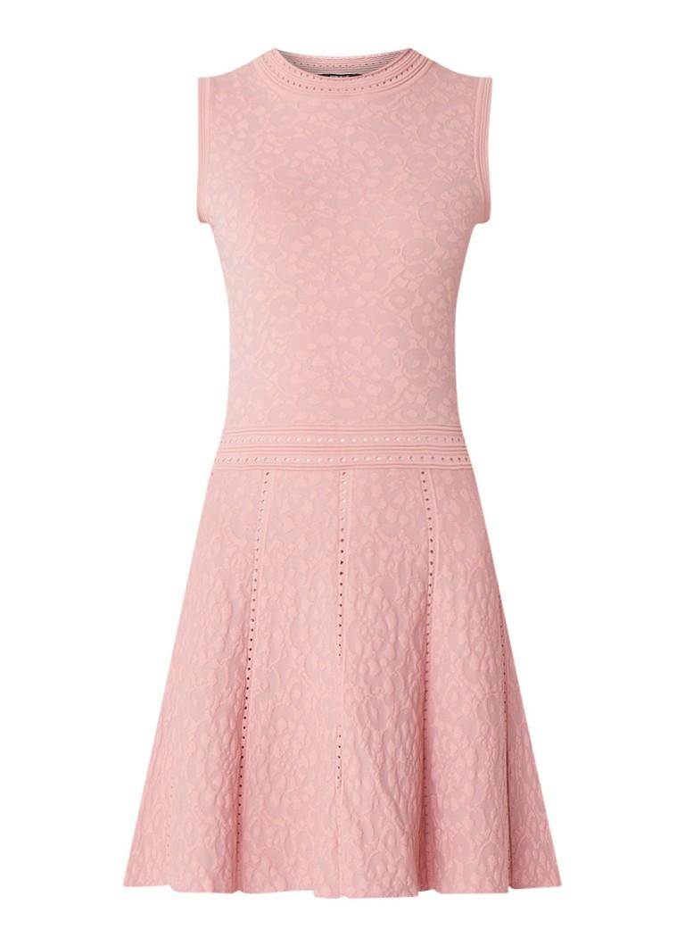 NIKKIE Jaslyn fijngebreide A-lijn jurk roze