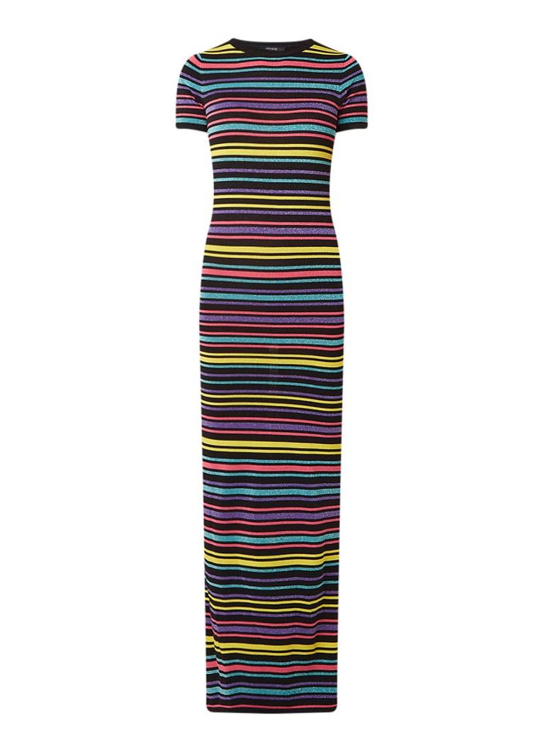 NIKKIE Jolie fitted maxi-jurk met streepdessin en lurex multicolor