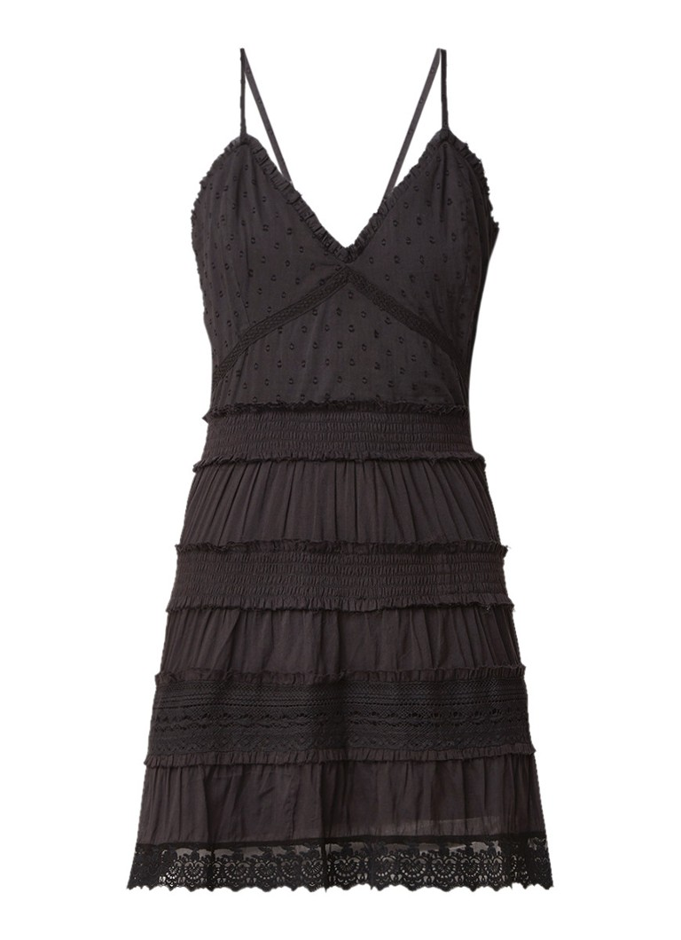 NIKKIE Sunny cami mini-jurk met broderie zwart