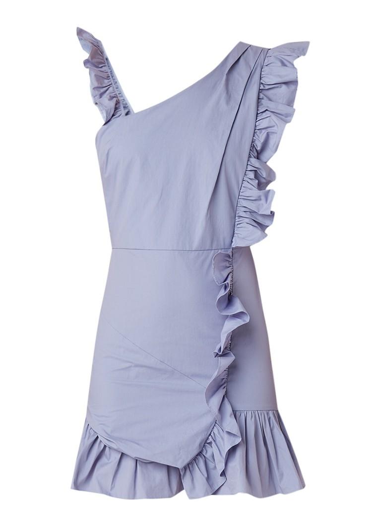 NIKKIE Satine mini-jurk met volants lavendel